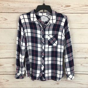 Rails Hunter Plaid Flannel Shirt Pink Blue White